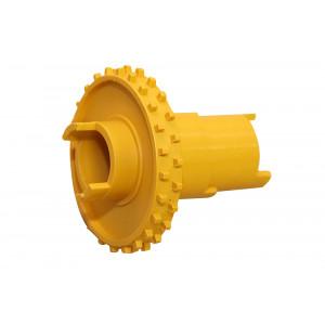Toisiosyöttörulla keltainen